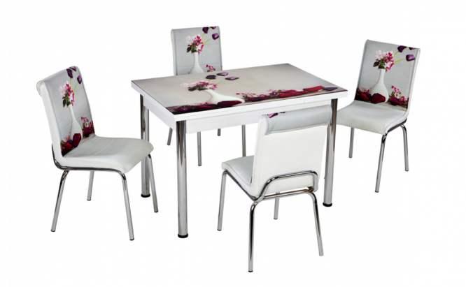 Комплект маса с принт и 4 бр. столове СВ 064